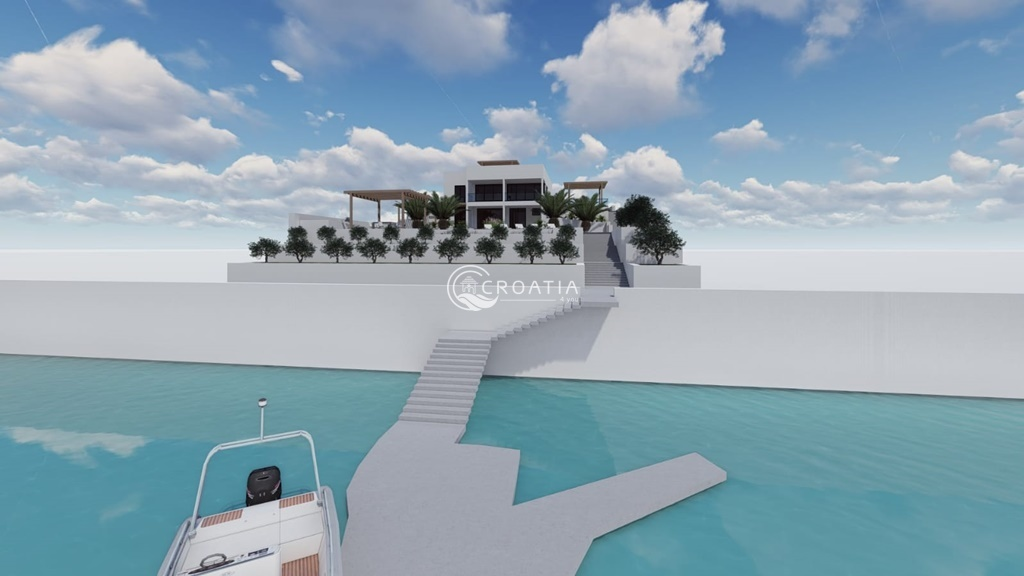 Villa in construction, 1st line to the sea