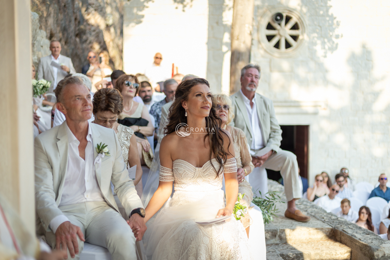 Church wedding at Sanctuary of our Lady of Prizidnica, Ciovo