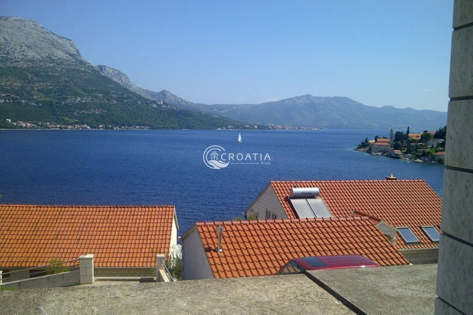 House on island Korcula with a beautiful sea view